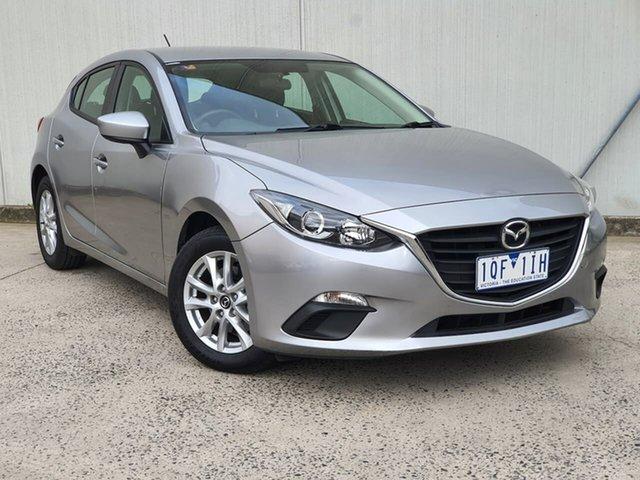 Used Mazda 3 BM5478 Neo SKYACTIV-Drive Oakleigh, 2015 Mazda 3 BM5478 Neo SKYACTIV-Drive Silver 6 Speed Sports Automatic Hatchback