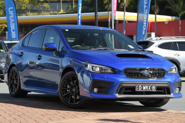 Demo Subaru WRX V1 MY21 Premium AWD Newstead, 2021 Subaru WRX V1 MY21 Premium AWD WR Blue Mica 6 Speed Manual Sedan