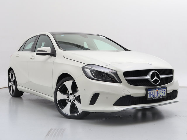 Used Mercedes-Benz A200 176 MY16 , 2016 Mercedes-Benz A200 176 MY16 White 7 Speed Automatic Hatchback