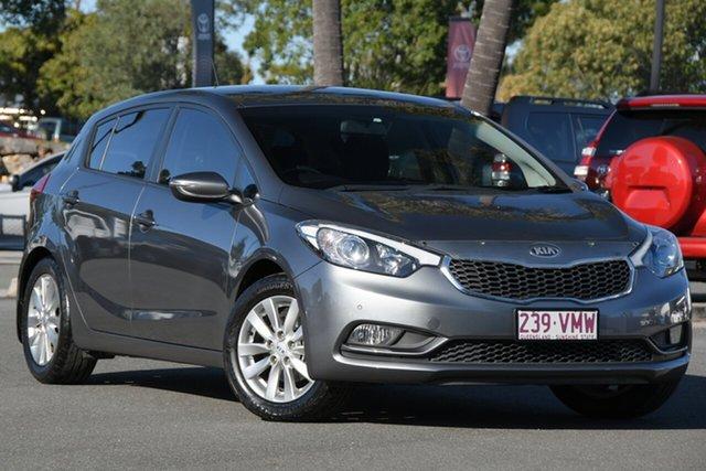 Used Kia Cerato YD MY15 S Premium North Lakes, 2014 Kia Cerato YD MY15 S Premium Grey 6 Speed Sports Automatic Hatchback