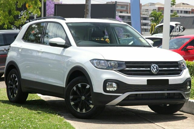 New Volkswagen T-Cross C1 MY21 85TSI DSG FWD Life Wangara, 2021 Volkswagen T-Cross C1 MY21 85TSI DSG FWD Life Pure White 7 Speed Sports Automatic Dual Clutch