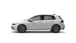 2021 Volkswagen Golf 8 110TSI Life Pure White 8 Speed Automatic Hatchback.