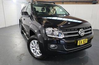 2015 Volkswagen Amarok 2H MY15 TDI420 4Motion Perm Highline Black 8 Speed Automatic Utility.