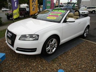 2010 Audi A3 118 TFSI Attraction White 4 Speed Automatic Convertible.