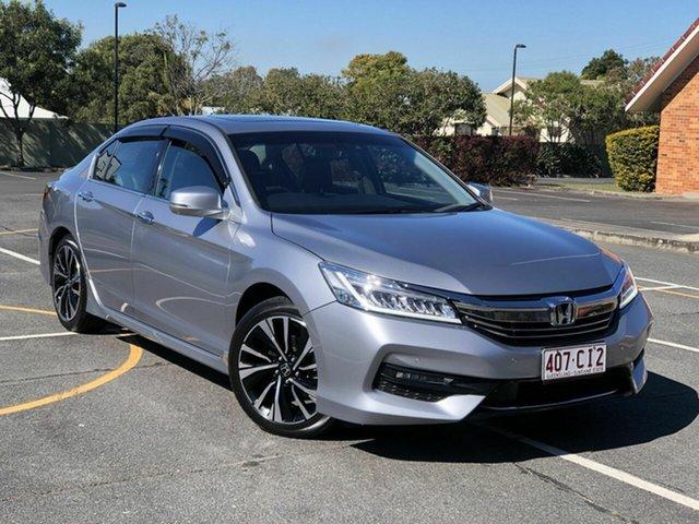 Used Honda Accord 9th Gen MY18 V6L Chermside, 2018 Honda Accord 9th Gen MY18 V6L Silver 6 Speed Sports Automatic Sedan
