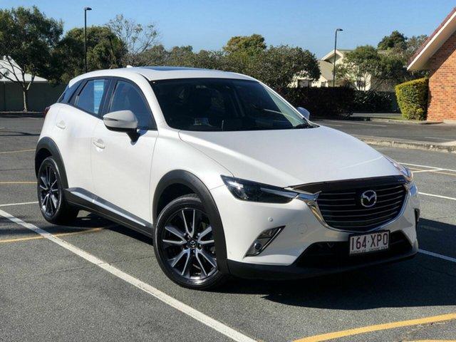 Used Mazda CX-3 DK4WSA Akari SKYACTIV-Drive i-ACTIV AWD Chermside, 2017 Mazda CX-3 DK4WSA Akari SKYACTIV-Drive i-ACTIV AWD White 6 Speed Sports Automatic Wagon