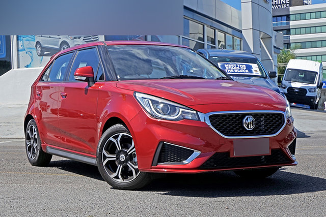 New MG MG3 SZP1 MY21 Excite Springwood, 2021 MG MG3 SZP1 MY21 Excite Red 4 Speed Automatic Hatchback