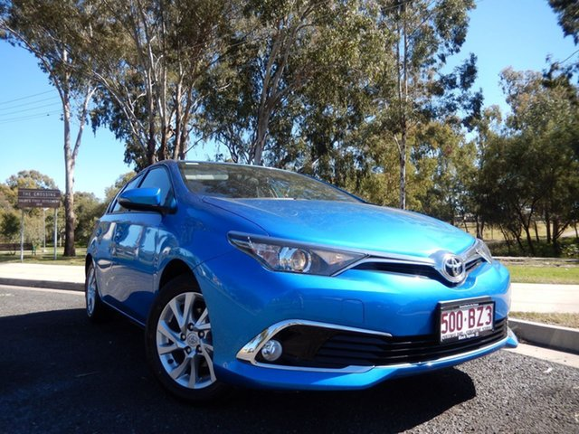 Pre-Owned Toyota Corolla ZRE182R MY17 Ascent Sport Dalby, 2017 Toyota Corolla ZRE182R MY17 Ascent Sport Blue Gem 7 Speed CVT Auto Sequential Hatchback