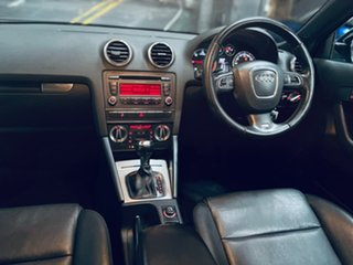 2012 Audi A3 8P MY13 Ambition Sportback S Tronic Black 6 Speed Sports Automatic Dual Clutch