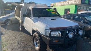 2008 Nissan Patrol ST White 5 Speed Manual Cab Chassis.