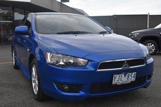 2010 Mitsubishi Lancer CJ MY11 VR Blue 6 Speed Constant Variable Sedan.