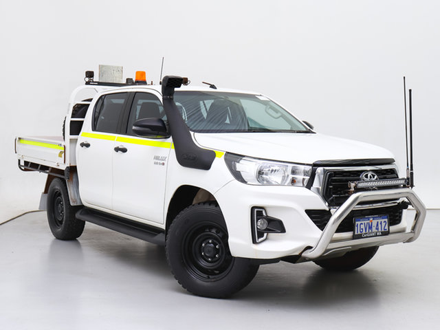 Used Toyota Hilux GUN126R MY19 SR (4x4), 2019 Toyota Hilux GUN126R MY19 SR (4x4) White 6 Speed Automatic Double Cab Chassis