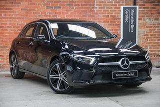 2020 Mercedes-Benz A-Class A250e DCT Cosmos Black 8 Speed Sports Automatic Dual Clutch Hatchback.