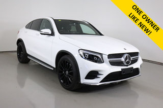 2018 Mercedes-Benz GLC250 253 MY18 Polar White 9 Speed Automatic G-Tronic Coupe.