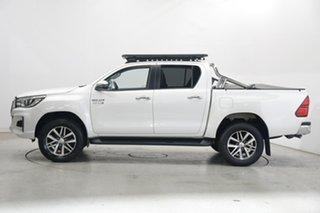 2018 Toyota Hilux GUN126R SR5 Double Cab Crystal Pearl 6 Speed Manual Utility.