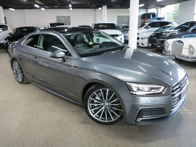 Used Audi A5 F5 MY17 Sport S Tronic Quattro Albion, 2017 Audi A5 F5 MY17 Sport S Tronic Quattro Grey 7 Speed Sports Automatic Dual Clutch Coupe