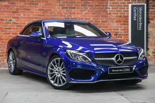 2018 Mercedes-Benz C-Class A205 808MY C200 9G-Tronic Brilliant Blue 9 Speed Sports Automatic.