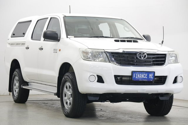 Used Toyota Hilux KUN26R MY12 SR Double Cab Victoria Park, 2012 Toyota Hilux KUN26R MY12 SR Double Cab White 4 Speed Automatic Utility