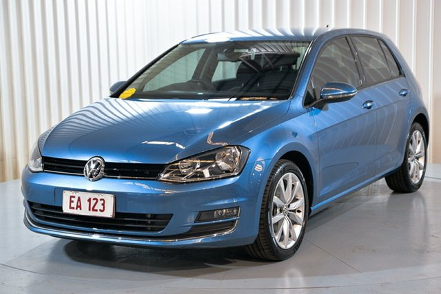 Used Volkswagen Golf VII MY14 103TSI DSG Highline Hendra, 2014 Volkswagen Golf VII MY14 103TSI DSG Highline Blue 7 Speed Sports Automatic Dual Clutch