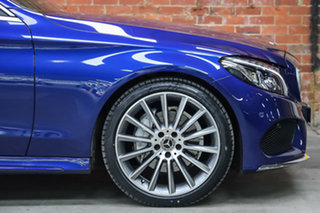 2018 Mercedes-Benz C-Class A205 808MY C200 9G-Tronic Brilliant Blue 9 Speed Sports Automatic