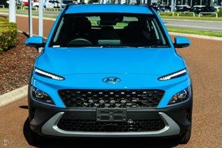 2021 Hyundai Kona Os.v4 MY21 2WD Blue 8 Speed Constant Variable Wagon.