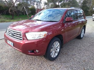 2010 Toyota Kluger GSU45R Altitude AWD Red 5 Speed Sports Automatic Wagon.