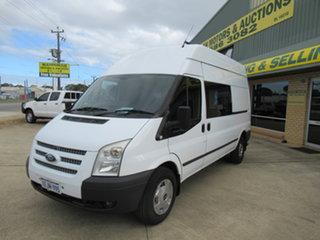 2013 Ford Transit Abalone White 6 Speed Manual Van.