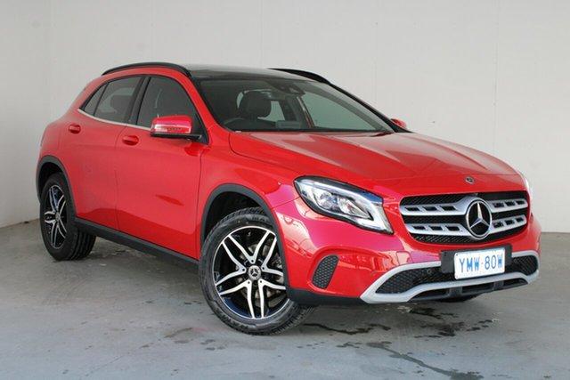 Used Mercedes-Benz GLA-Class X156 808+058MY GLA180 DCT Phillip, 2018 Mercedes-Benz GLA-Class X156 808+058MY GLA180 DCT Red 7 Speed Sports Automatic Dual Clutch