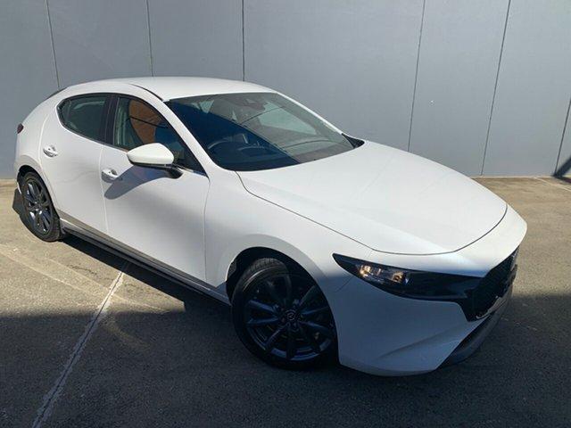 New Mazda 3 BP2HLA G25 SKYACTIV-Drive Evolve Alexandria, 2021 Mazda 3 BP2HLA G25 SKYACTIV-Drive Evolve Snowflake White 6 Speed Sports Automatic Hatchback