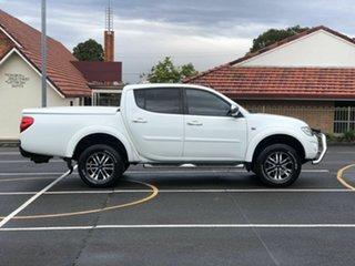 2012 Mitsubishi Triton MN MY13 GLX-R Double Cab White 5 Speed Sports Automatic Utility.