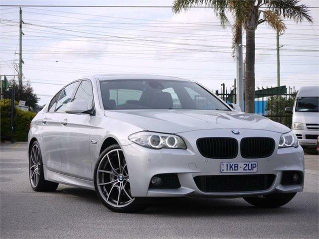 Used BMW 5 Series F10 528i Cheltenham, 2011 BMW 5 Series F10 528i Silver 8 Speed Sports Automatic Sedan