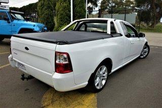 2008 Ford Falcon FG R6 Ute Super Cab White 4 Speed Sports Automatic Utility.