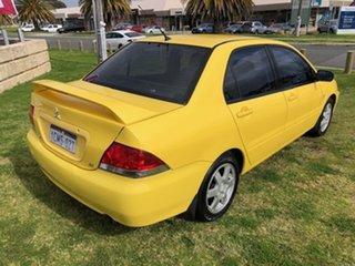 2007 Mitsubishi Lancer CH MY07 ES Yellow 4 Speed Sports Automatic Sedan.