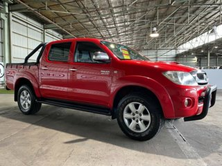 2011 Toyota Hilux KUN26R MY10 SR5 Red 4 Speed Automatic Utility.