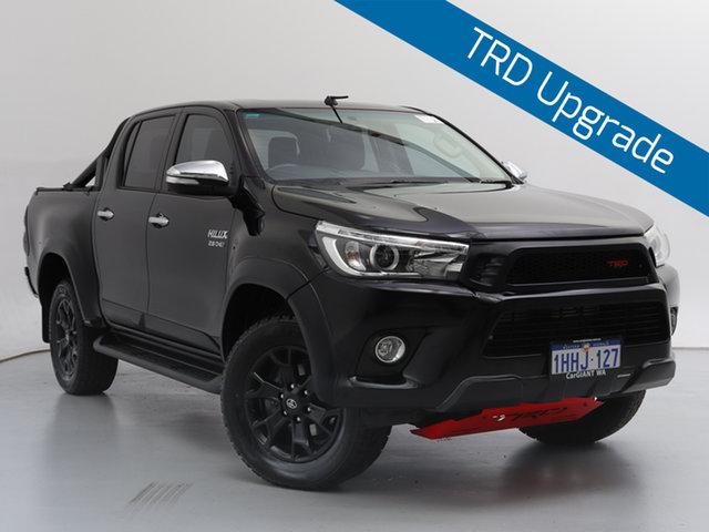 Used Toyota Hilux GUN126R SR5 (4x4), 2017 Toyota Hilux GUN126R SR5 (4x4) Black 6 Speed Manual Dual Cab Utility