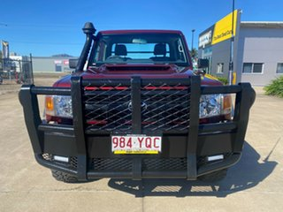 2017 Toyota Landcruiser VDJ79R GX Red/110717 5 Speed Manual Cab Chassis