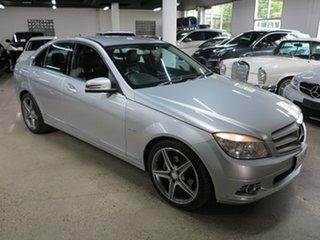 2010 Mercedes-Benz C-Class W204 MY10 C250 CGI Avantgarde Silver 5 Speed Sports Automatic Sedan.