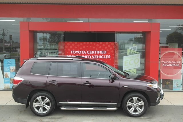 Pre-Owned Toyota Kluger GSU40R MY12 KX-S 2WD Swan Hill, 2013 Toyota Kluger GSU40R MY12 KX-S 2WD Maroon 5 Speed Sports Automatic Wagon