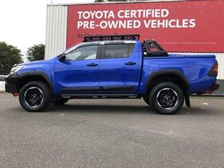 2018 Toyota Hilux GUN126R Rugged X Double Cab Nebula Blue 6 Speed Sports Automatic Utility
