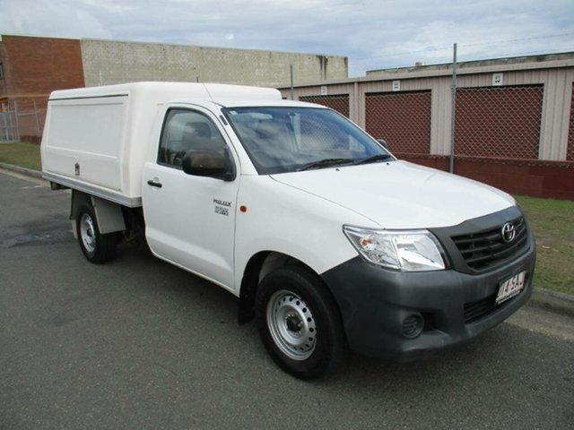 Used Toyota Hilux TGN16R MY12 Workmate 4x2 Kippa-Ring, 2011 Toyota Hilux TGN16R MY12 Workmate 4x2 White 5 Speed Manual Cab Chassis