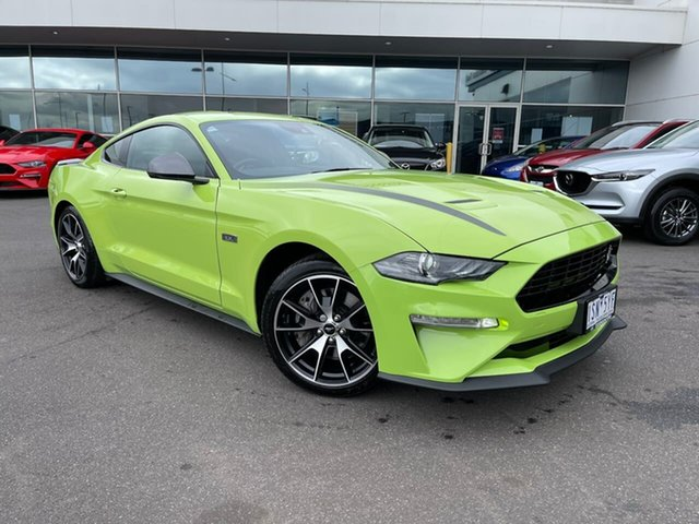 Used Ford Mustang FN 2020MY High Performance RWD Essendon Fields, 2020 Ford Mustang FN 2020MY High Performance RWD Green 10 Speed Sports Automatic Fastback