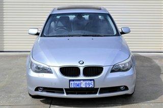 2003 BMW 5 Series E60 525i Steptronic Silver 6 Speed Sports Automatic Sedan.