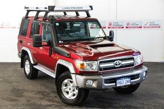 2020 Toyota Landcruiser VDJ76R GXL Merlot Red 5 Speed Manual Wagon.