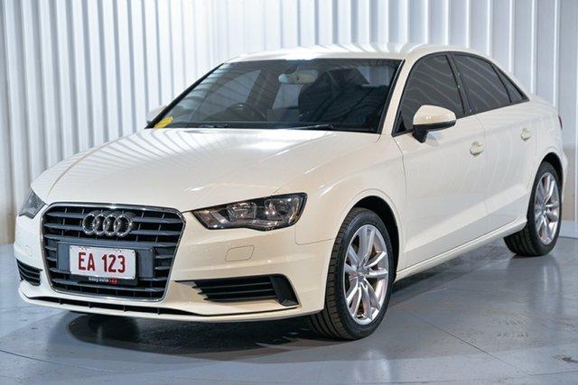 Used Audi A3 8V MY15 Attraction S Tronic Hendra, 2015 Audi A3 8V MY15 Attraction S Tronic White 7 Speed Sports Automatic Dual Clutch Sedan