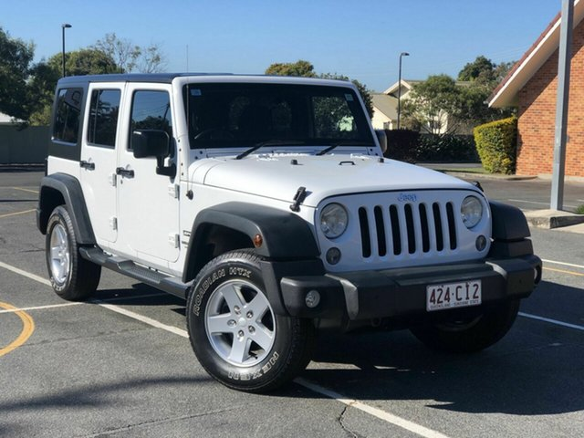 Used Jeep Wrangler JK MY2015 Unlimited Sport Chermside, 2015 Jeep Wrangler JK MY2015 Unlimited Sport White 5 Speed Automatic Softtop