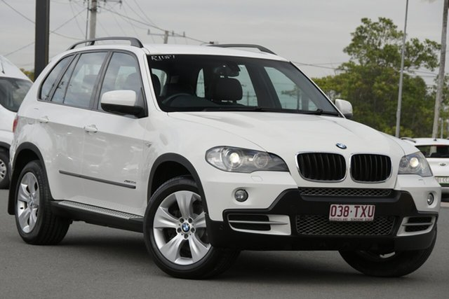 Used BMW X5 E70 MY10 xDrive30d Steptronic Rocklea, 2009 BMW X5 E70 MY10 xDrive30d Steptronic Alpine White 6 Speed Sports Automatic Wagon