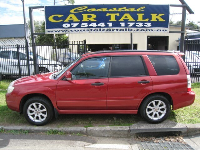 Used Subaru Forester MY07 XS Nambour, 2006 Subaru Forester MY07 XS Red 5 Speed Manual Wagon