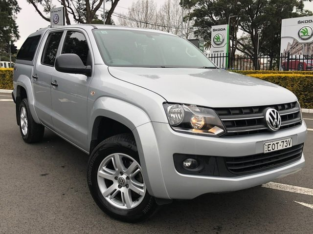 Used Volkswagen Amarok 2H MY16 TDI420 4MOTION Perm Core Plus Botany, 2015 Volkswagen Amarok 2H MY16 TDI420 4MOTION Perm Core Plus Silver 8 Speed Automatic Utility