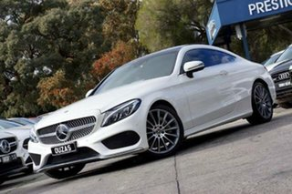2017 Mercedes-Benz C-Class C205 807+057MY C300 9G-Tronic White 9 Speed Sports Automatic Coupe
