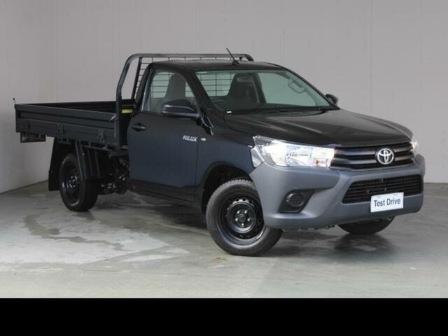 Used Toyota Hilux TGN121R MY17 Workmate Fyshwick, 2018 Toyota Hilux TGN121R MY17 Workmate Eclipse Black 6 Speed Automatic Cab Chassis